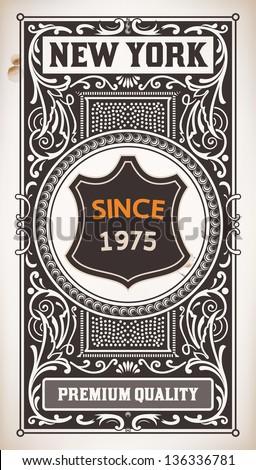 Vector. Vintage Design - stock vector