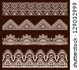 Vector vintage design elements, retro seamless - stock vector