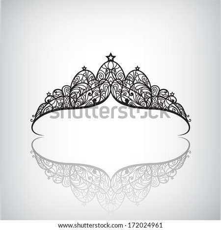vector vintage elegant decorated with star crown icon, logo isolated - stock vector