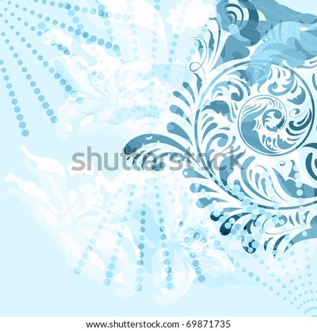 vector vintage floral grunge background with space for your text, clipping masks, eps10 - stock vector