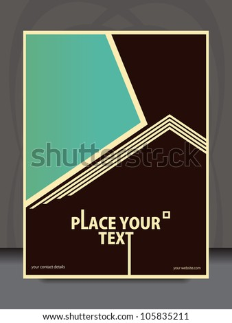 Vector vintage flyer design - stock vector