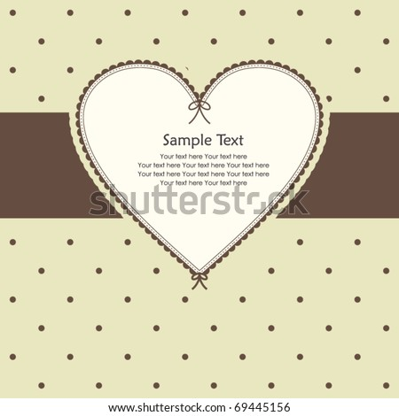 Vector vintage frame design - stock vector