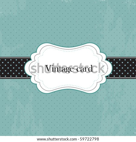 Vector vintage frame, greeting card - stock vector