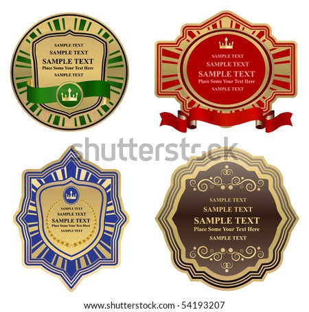 vector vintage frames - stock vector