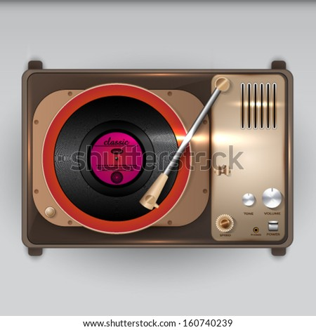 Vector Vintage Gramophone illustration