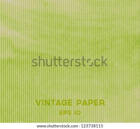 Vector vintage green paper background - stock vector