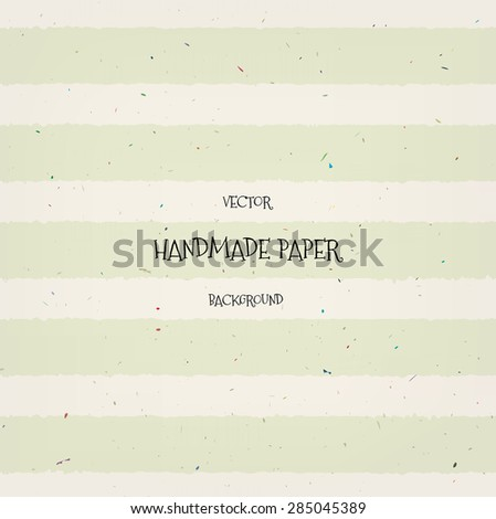 Vector vintage hand crafted lightly striped paper background - stock vector