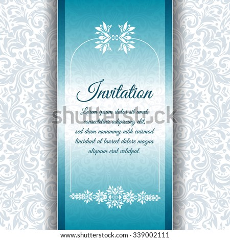 Vector vintage invitation card template