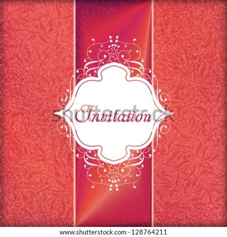 Vector vintage invitation luxury card design. - stock vector