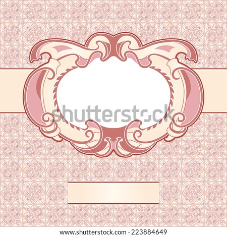 Vector vintage labels, engraving leafs and flower, pattern texture - stock vector