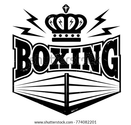 vector vintage logo boxing ring retro stock vector 774082201 rh shutterstock com boxing logo images boxing logo images