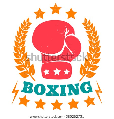 Vector vintage logo for boxing