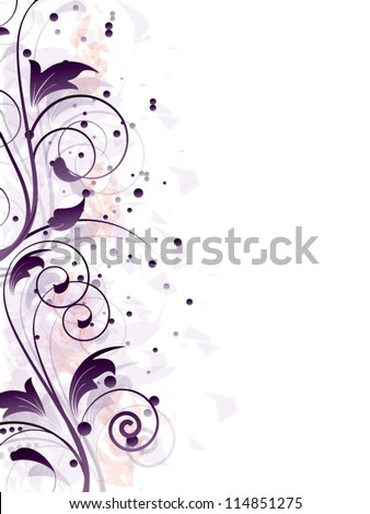 Vector vintage ornamental abstract background with swirls,lines and other floral elements - stock vector