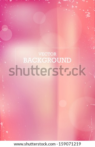 Vector vintage photographic unfocused background with light leaks - stock vector