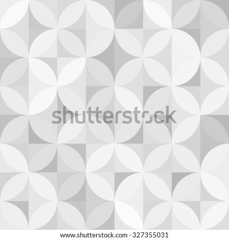 vector vintage retro seamless circle pattern background - stock vector