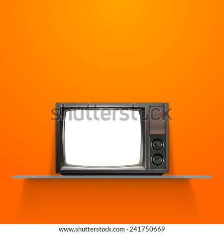 Vector Vintage Retro Televison- Eps 10 - stock vector