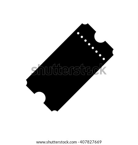 Vector Vintage Ticket Icon on white background - stock vector