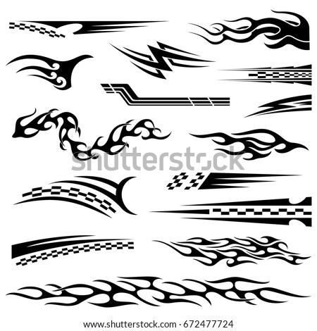 Car Sticker Design Vector
