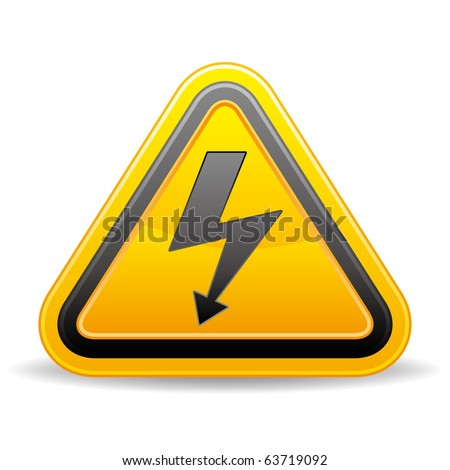 vector voltage sign on white background - stock vector