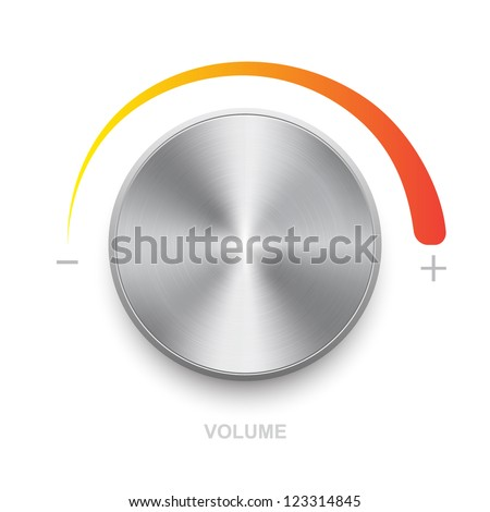 Vector volume control  on a white background