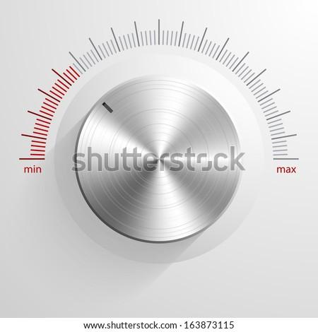 Vector volume knob. - stock vector