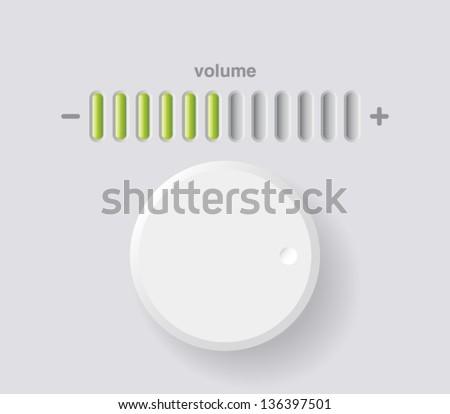 Vector Volume Music Control Volume Knob Stock Vector ...