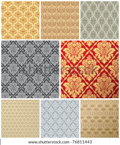 vector wallpaper background with seamless elements and decorations