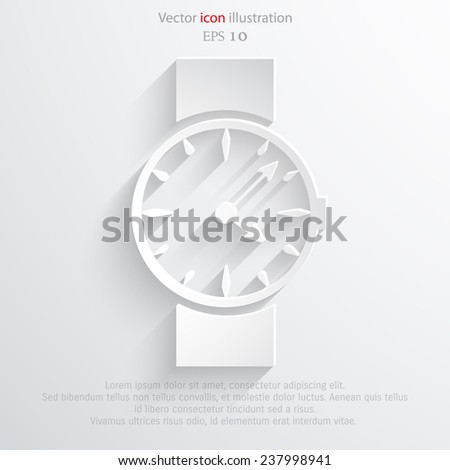 Vector watch, clock web icon. Eps 10. - stock vector