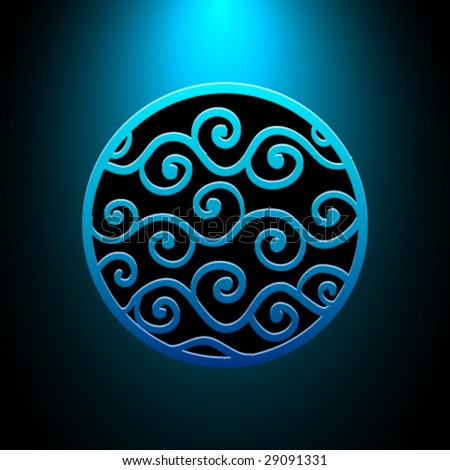 Vector Water Ornament - stock vector