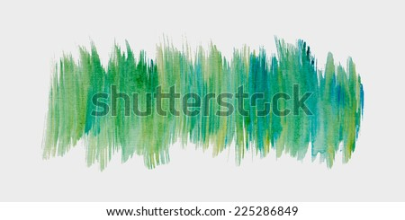 Vector Watercolor Abstract Background - Watercolor Colorful Brush Strokes Texture, Vector Element For Design - stock vector