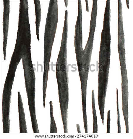 Vector watercolor animal skin. Seamless pattern. - stock vector