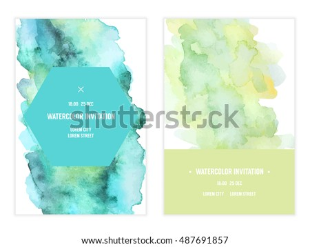 Vector watercolor background elegant simple card stock vector vector watercolor background elegant simple card stock vector 487691857 shutterstock stopboris Choice Image