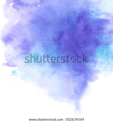 Vector watercolor background for your design.painting on paper from my originals