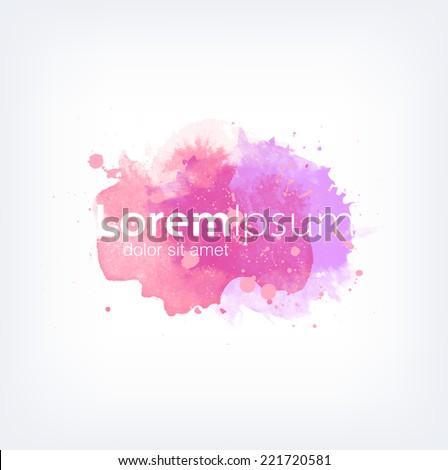 Vector watercolor logo design template - stock vector