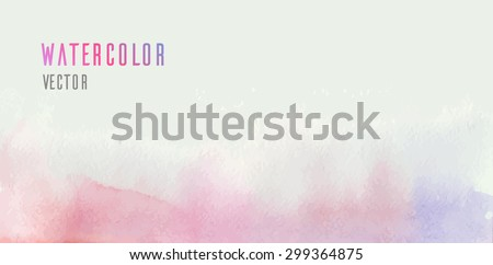 Vector watercolor pink background for your creativity - stock vector