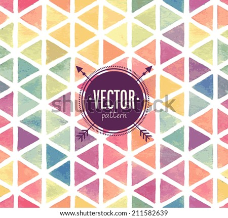 Vector Watercolor seamless pattern. - stock vector