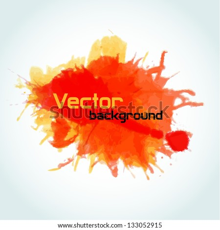 Vector watercolor splatter background texture