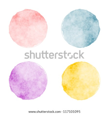 Vector watercolor stains - stock vector
