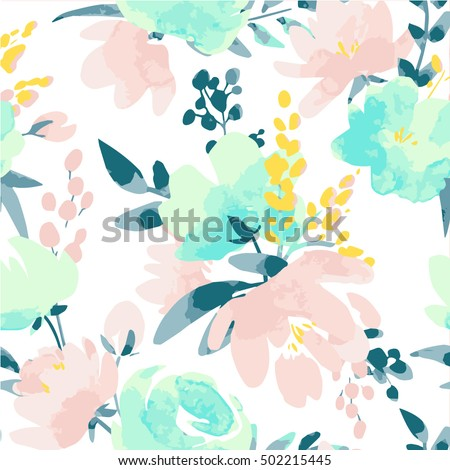 15 best Floral Print | Aqua images on Pinterest | Floral prints ...