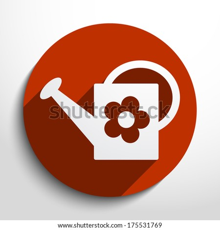 Vector watering can icon background. - stock vector