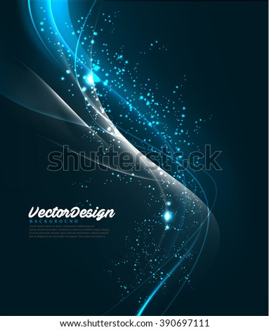 Vector Wave Abstract Design - stock vector