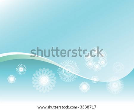 Vector wave background with spiral shapes - stock vector