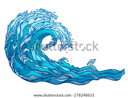 vector wave splash - stock vector