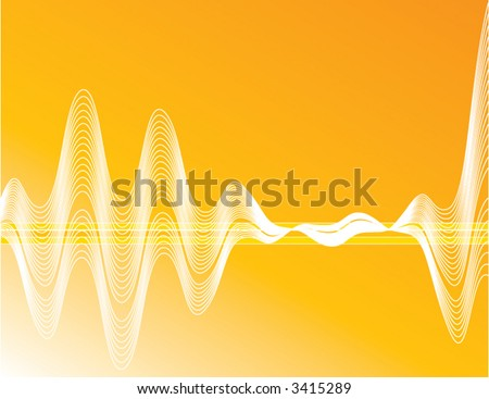 Vector Waves on a Gradient - stock vector