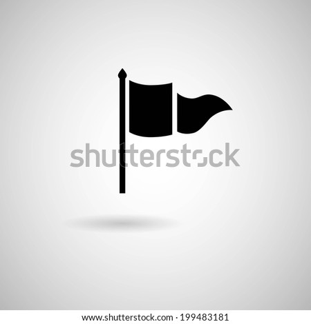 Vector Waving Flags and Banners for Icons,