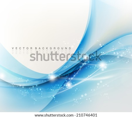 Vector Wavy Elegant Background - stock vector