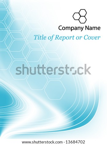 Vector Wavy & Honeycomb Background or Cover - stock vector