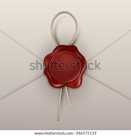 Vector Wax Seal Stamp Isolated on Background
