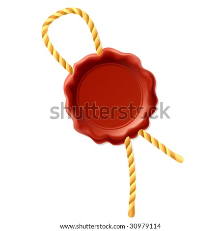 Vector wax seal with rope