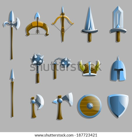 vector weapon icons  - stock vector